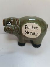 New listingCollectable pig piggy bank Money Box Pottery pocket money immaculate