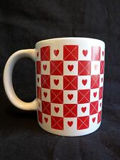 VALENTINE MUG Coffee Cup HEARTS AND BOXES Red Just For You