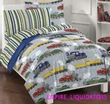 Twin Dream Factory Trains Bed-In-A-Bag Set W/ Twin Sheet Set & 6' Kids Tunnel