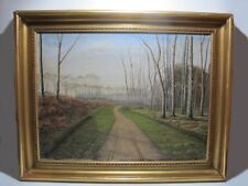 ANTIQUE EUROPEAN OIL ON CANVAS, Lippert  # 187