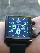 INVICTA Swish Made Russian 1959 Diver Watch Glow In Dark Stainless Steel 7185