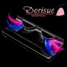P4 Color feature eyelash false lashes drama show colorful feather eyelashes set