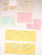 Nottingham Forest F.C. 9 signed autograph album pages 30 players 1980s football