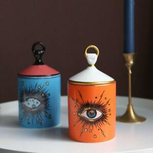 For-- Fornasetti Big Eyes Jar With Lids Ceramic Decorative Candle Holder Storage