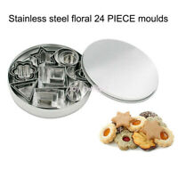 Stainless Steel Cookie Cutter Fondant Cake Baking Mold Biscuit Moulds 24Pcs/set