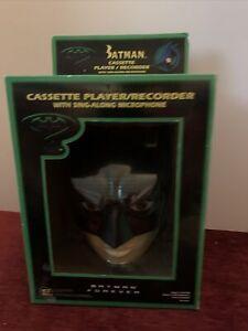 Batman tape recorder cassette player with microphone Super Rare Mint In Box