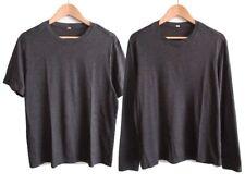 Lot of 2 Lululemon Mens 5 Year Basic Long Sleeve & Short Sleeve T-Shirts Size M