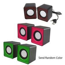 Wired Mini Speakers USB 2.0 for Laptop PC MP3 Multimedia Speaker Random Color c
