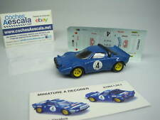 SIN CAJA UNBOXED REF 009 Lancia stratos + decals SOLIDO 1/43 cochesaescala