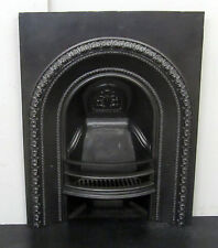 "Original Victorian 28""x36"" Cast Iron Arched Insert Fireplace"