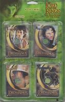 2001 Lord Of The Rings Fellowship Of The Ring 4 CD Cards Set 1 - NEW - Cards
