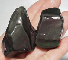 312.4Ct Natural Mexican Rainbow Obsidian Facet Rough Specimen YRO671