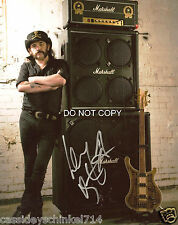 Lemmy Kilmister of Motorhead reprint signed autographed 11x14 poster photo
