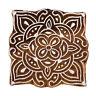 Holzdruckstöcke Indische Hand geschnitzte Textilgewebe Briefmarken 7556