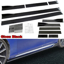 2pcs/Set Universal Black Car Side Skirt Extension Rocker Panel Splitt Protector