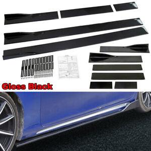 2pcs/Set Universal Black Car Side Skirt Extension Rocker Panel Splitt Protector