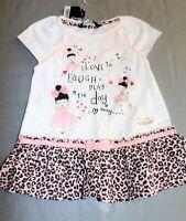 GEORGE Brand GIRLS 'Love to Play' Animal Print Dress Size 1.5-2 yrs BNWT #GIR1