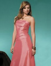Jordan Fashion Bridesmaid  Prom Evening Party Gala Organza Blush Dress size 12