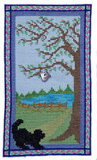 10% Off Handblessings Counted X-stitch chart - Puppy at the Door on a Spring Day