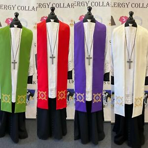 Italian Stoles - Beautiful Embroidery - Stock Clearance Sale Now On - Est. 1965
