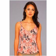 Miraclesuit French Twist Malibu Tankini Top Coral Swimsuit Bathing Suit Size 10