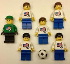 6 Lego Men's National Team Soccer Minifigs: World Cup USA white jerseys 3411