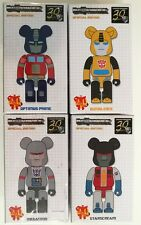 Bearbrick Transformers Set of 4 Optimus Prime, Megatron, Bumblebee, Starscream