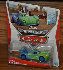 2014 Disney World of Cars Die Cast Allinol Blowout Carla Veloso with Flames NEW