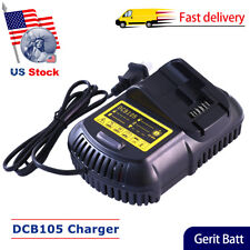 DCB105 for Dewalt Battery Charger 12V MAX and 20V MAX Lithium-ION DCB101 DCB107