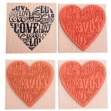 15 CLEAR RUBBER STAMPS-LOVE-HEARTS-2CM-6.5CM STAMP-KISS-CUPID-VALENTINE-KISS