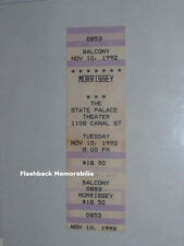 MORRISSEY Unused 1992 Concert Ticket NEW ORLEANS STATE PALACE The Smiths RARE
