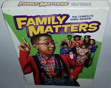FAMILY MATTERS COMPLETE SEASON 3 BRAND NEW SEALED R1 DVD