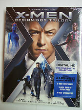 X-Men: Beginnings Trilogy w/S-Cover (Blu-ray Disc, Digital HD, 2016, 3-Disc Set)
