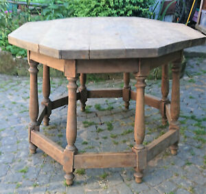 Spanischer antiker Eichenholztisch