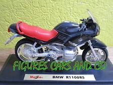 MOTO 1/18 BMW  R 1100 RS NOIRE SELLE ROUGE MAISTO