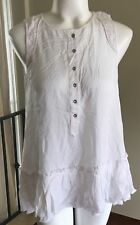 Diesel T-Dora Sleeveless Top Womens XS Relaxed Ruffle msrp $158 New DSH