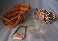 1996 Longaberger All-American Summertime basket w/ liner protector tie-on combo