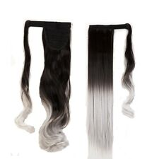 US High Quality Clip In human Hair Extension Pony Tail Wrap Around Ponytail New
