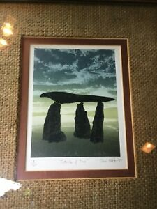 """1981 Signed Chris Noble Framed Serigraph Print """"Outside Of Time""""  Numbered 24/40"""