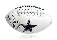Ezekiel Elliott Signed Dallas Cowboys White Logo Stat Football COA Fanatics Auto