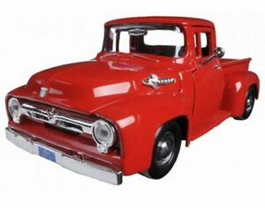 FORD F-100 Pick up - 1956 - red - MotorMax 1:24