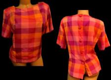 Sag harbor dress orange pink geometric back button detailed plus size top 14