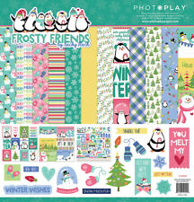 Scrapbooking Crafts PP 12X12 Paper Pack Frosty Friends Penguins Snowmen Winter