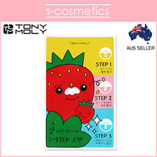 [TONYMOLY] Runaway Strawberry Seeds 3 Step Nose Pack (x1 x2 x3) Tony Moly Mask