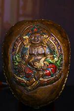 New listing 16.5 cm Tibet Buddhism Brass Bowl Buddha Bronze earthen bowl