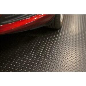 Universal 7.5 x 14 ft. Diamond Black Garage Flooring Mat Trailer Floor Covering