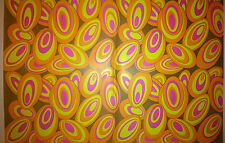 Vintage 1970's Gift Wrapping Paper Groovy Austin Powers Swirls.