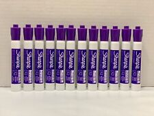 12 Sharpie Chisel Tip Dry Erase Markers For Whiteboards Purple Tank Style New