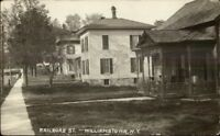 Williamstown NY Railroad St. Homes c1910 Real Photo Postcard