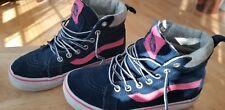 Little girls Vans Kids blue & pink Sk8-Hi top Skate Shoes, Size 13.5
